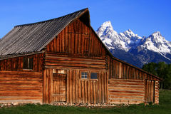 Moulton Barn 5. Historic barn located on Mormon Row, Grand Teton National Park, Wyoming Royalty Free Stock Photo