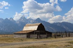Moulton Barn Grand Teton National Park royalty free stock photography