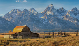 Moulton Barn in the Grand Teton National Park, Wyoming Royalty Free Stock Photography