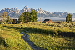 Moulton Barn in the Grand Teton, WY Stock Photos