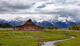 Moulton Barn Grand Tetons Royalty Free Stock Image