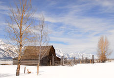 Moulton Barn in Teton National Park Royalty Free Stock Photo