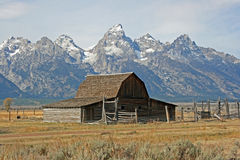 Moulton barn and Teton Range Royalty Free Stock Image