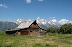 Moulton ladugård, mormonrad, storslagen Teton nationalpark Fotografering för Bildbyråer