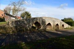 Moulton, ponte velha romana BRITÂNICA fotografia de stock