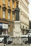 Moument del ‡ del iÄ del ¡de MioÅ del ‡ del iÄ del  de Andrija KaÄ en Zagreb Imágenes de archivo libres de regalías