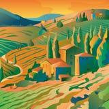 Mounain-Landschaft lizenzfreie abbildung