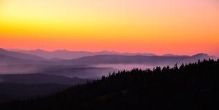 Mounains. Mountains at foggy day in oregon stock photos