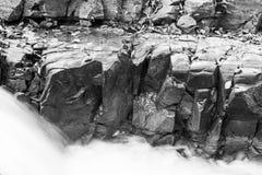 Mounatin linn i black&white Royaltyfri Bild