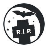 Mound and bat icon Stock Photo