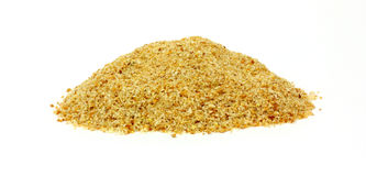 Mound Bread Crumbs. A colorful speckled mound of toasted bread crumbs Stock Photography