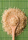 Mound of brown rice Stock Photography