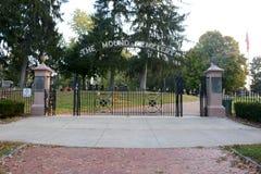 The mound cemetery Stock Photo