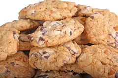 Mound of chocolate chip cookies Royalty Free Stock Images