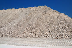 A mound of clay. For construction work Royalty Free Stock Image