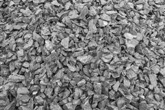 Mound crushed gravel, close-up, construction material Stock Image