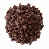 Mound of Delicious Chocolate Chips Stock Photography