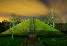 Mound in Dubrovitsy Stock Photo