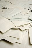 Mound of envelopes. Big pile of scattered envelopes Stock Photo