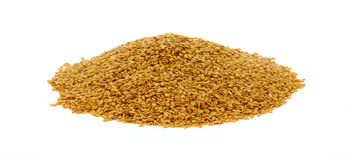 Mound of Flax Seed Stock Photography