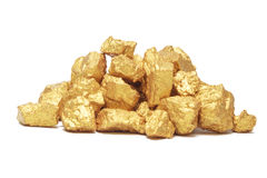 Mound of gold Stock Photos
