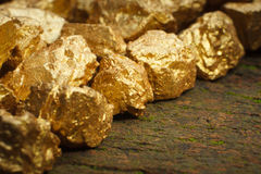 Mound of gold Stock Photo