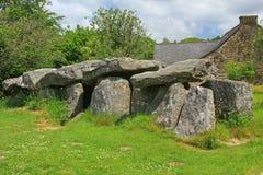 Mound grave Mougau Bihan Stock Photos
