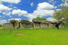 Mound grave Mougau-Bihan, Brittany, France Stock Photos