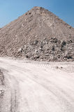 Mound of gravel. A mound of gravel for construction Stock Photos