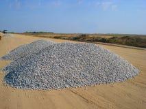 Mound of gravel. View of mound of gravel Stock Image