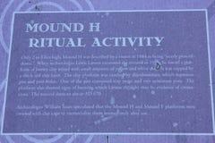 Mound H - Kolomoki Indian Mounds Marker Royalty Free Stock Images