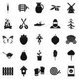 Mound icons set, simple style. Mound icons set. Simple set of 25 mound icons for web isolated on white background Royalty Free Stock Image
