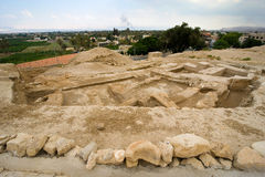 Mound Jericho. Old ruins and remains in Tell es-Sultan better known as Jericho the oldest city in the world Stock Photos