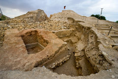 Mound Jericho. Old ruins in Tell es-Sultan better known as Jericho the oldest city in the world Stock Images