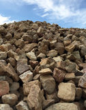 Mound of Landscaping Rocks Stock Images