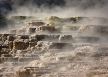 The Mound, Mammoth Springs, Yellowstone Stock Image