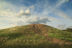 Mound at sunset Royalty Free Stock Photos