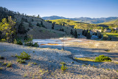 Mound Terrace , Mammoth Hot Springs area in Yellowstone National Park,USA Royalty Free Stock Photography