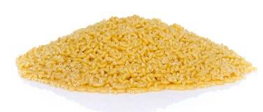 Mound of uncooked pasta elbow macaroni Stock Photos