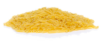 Mound of uncooked pasta penne Royalty Free Stock Photography