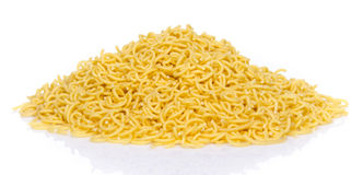 Mound of uncooked short spaghetti Stock Photography