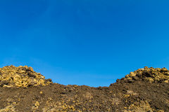 Mound was excavated pile Stock Photo