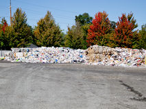 Mounded trash ready for transport Royalty Free Stock Image