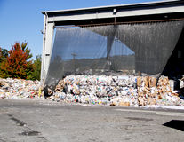 Mounded trash ready for transport Royalty Free Stock Photography