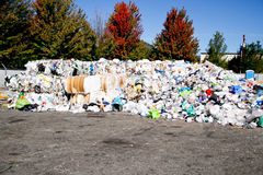 Mounded trash ready for transport Royalty Free Stock Photo