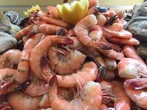 Mounds of Fresh Peel and Eat Shrimp.  Stock Photo