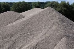 Mounds Of Gravel Royalty Free Stock Images