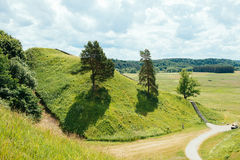 Mounds in Kernave Stock Photo