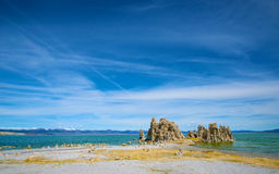 Mounds of Tufa on Mono Lake Royalty Free Stock Photo