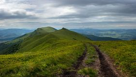 Mounrtain road. Mountain road on the top of the ridge Stock Photography